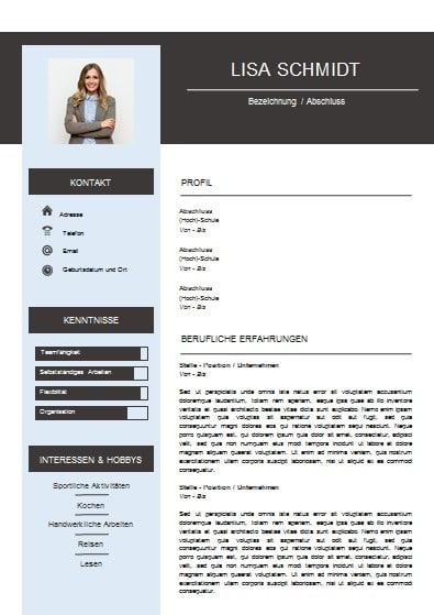 vorlage bewerbung - Vorlage Fur Bewerbung